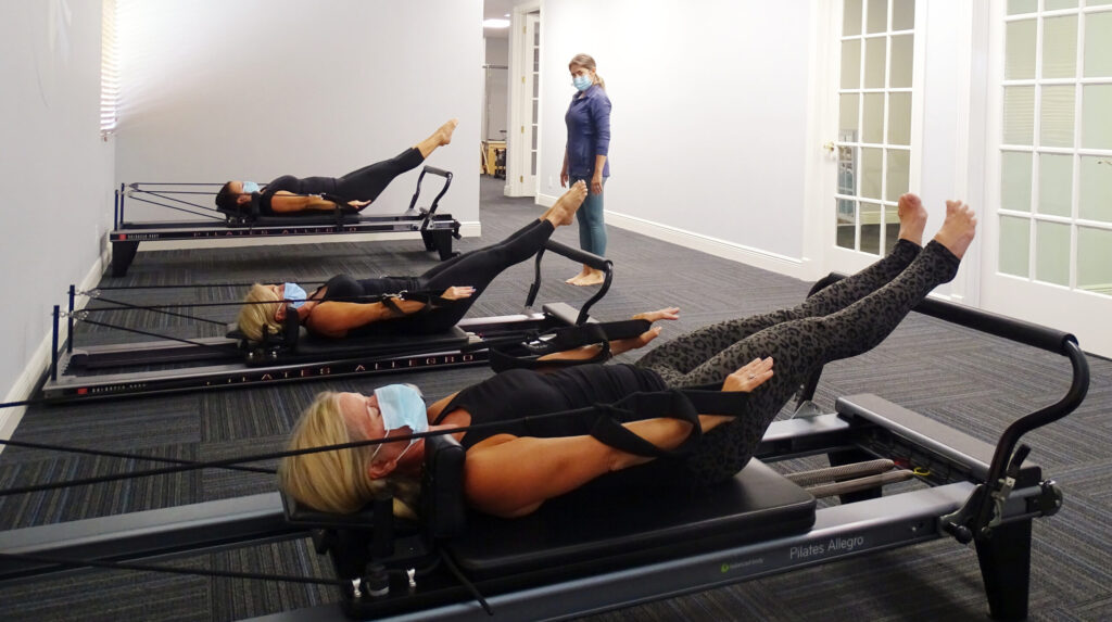 Socially Distant Group Pilates at Myofascial Healing Center