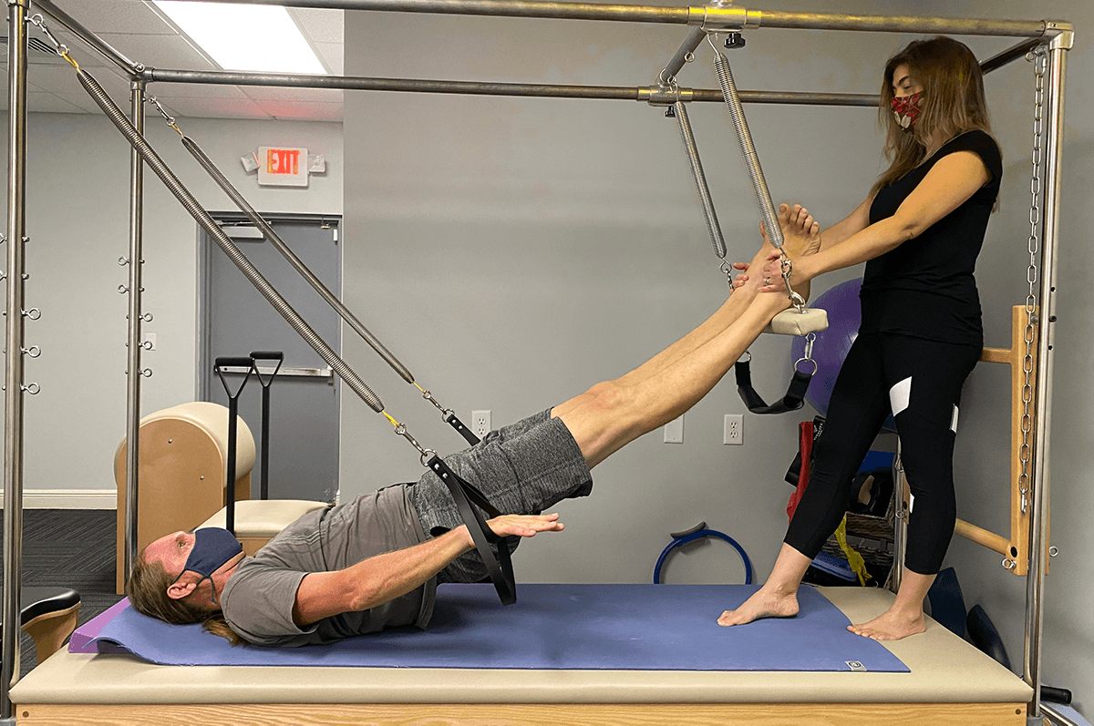 Physical Therapy Pilates Session