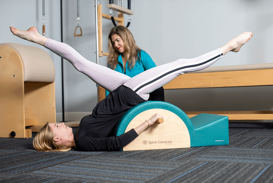 Expert Instructor and Physical Therapist Roxy Molina-Lopez teaching Private Pilates at Myofascial Healing Center